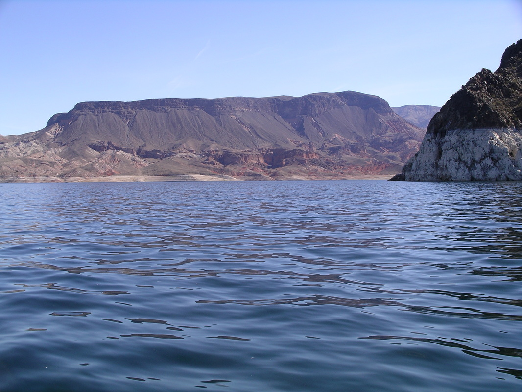 Fortification Hill from Lake Mead