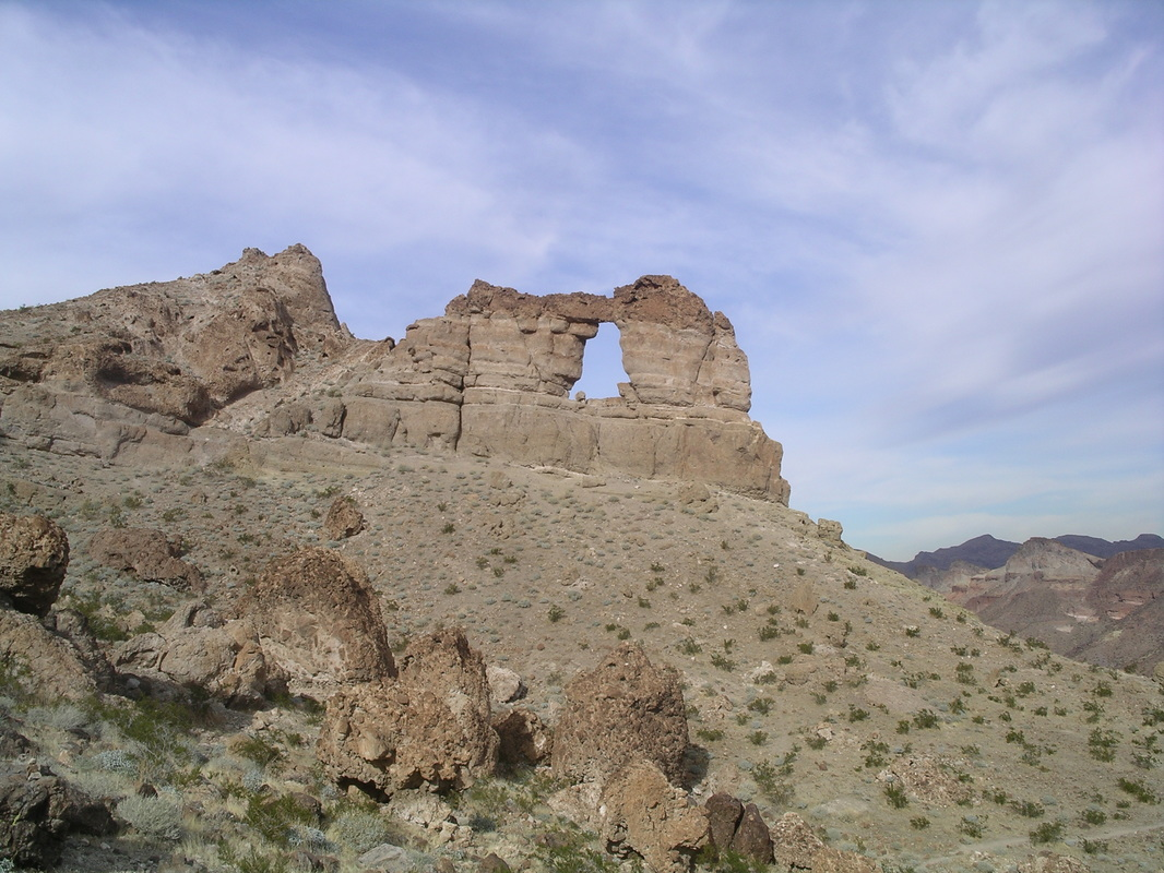 View of Liberty Bell Arch from the trail